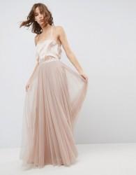 Needle & Thread Tulle Maxi Skirt - Pink