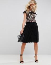 Needle & Thread Tulle Midi Skirt - Black