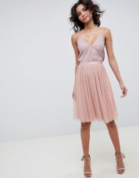 Needle & Thread tulle skirt in vintage rose - Pink