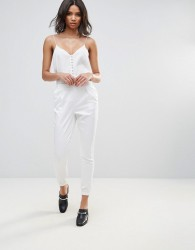 Neon Rose Luxe Slim Trousers - White