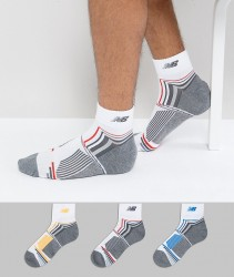 New Balance 3 Pack Ankle Socks In Multi Colour N674-3EU WHTM - Multi