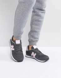 New Balance 500 Trainer in Grey and Pink - Grey