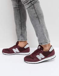 New Balance 500 Trainers In Red - Red