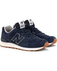 New Balance 574 Running Sneaker Navy Suede