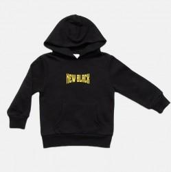 New Black Børne Hoodie - Metal