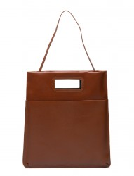 New Courier Flat Tote Caviar