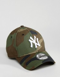 New Era 9Forty Adjustable Cap NY Yankees in Camo - Green