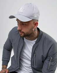 New Era 9Forty NY Adjustable Cap in Grey - Grey