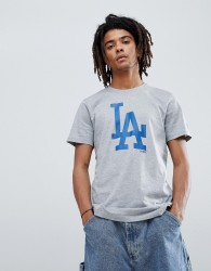 New Era LA Dodgers T-Shirt With Large Logo In Grey - Grey