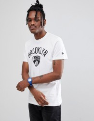 New Era NBA Brooklyn Nets T-Shirt In White - White