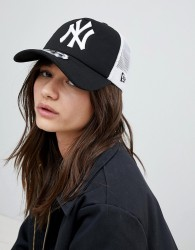 New Era NY Trucker Cap - Black