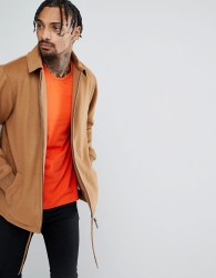 New Era Premium Wool Coach Jacket - Tan