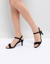New Look 2-Part Low Heel Sandal - Black