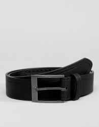 New Look Belt With Weave Detail In Black - Black