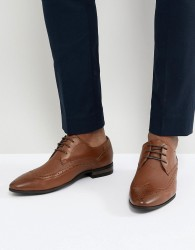 New Look Brogue With Embossed Detail In Tan - Tan