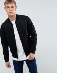 New Look Cotton Bomber In Black - Black