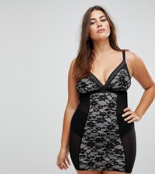 New Look Curve Lace Shaping Slip - Black