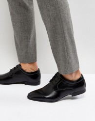 New Look Derby Shoes In Black - Black