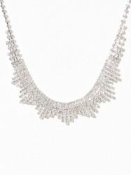 New Look Diamante Spike Necklace Halskæde Crystal