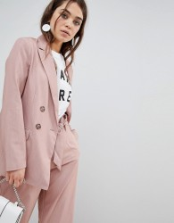 New Look Double Breasted Blazer - Pink