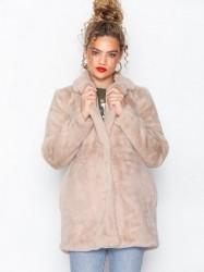 New Look Faux Fur Coat Faux Fur Pale Pink