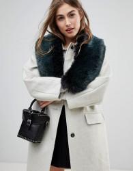 New Look Faux Fur Collar - Blue
