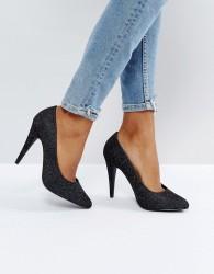 New Look Glitter Cone Heel Court Shoe - Silver