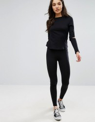 New Look High Waist Leggings - Black