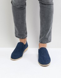 New Look Knitted Espadrilles In Navy - Navy