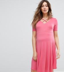 New Look Maternity Skater Dress - Orange