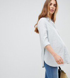 New Look Maternity Stripe Shirt - Grey