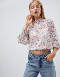 New Look metallic floral blouse - Multi