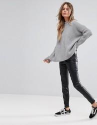 New Look PU Seam Front Legging - Black
