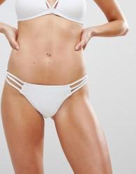 New Look Ring Hipster Bikini Bottoms - White