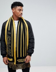New Look Scarf With Legacy In Black And Yellow - Black