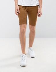 New Look Skinny Fit Chino Shorts In Tan - Tan