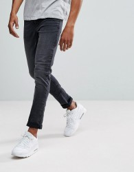 New Look Skinny Fit Jeans In Washed Black - Black