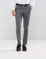 New Look Skinny Fit Smart Trousers In Grey - Grey