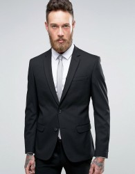 New Look Skinny Fit Suit Jacket In Black - Black