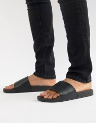 New Look Sliders In Black - Black