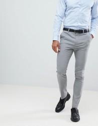New Look Smart Skinny Trousers In Grey - Grey