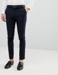 New Look Smart Skinny Trousers In Navy - Navy