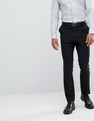 New Look Smart Slim Trousers In Black - Black
