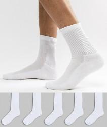 New Look Socks In White 5 Pack - White