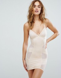 New Look Solutions Shaping Slip Dress - Beige