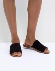 New Look Suede Flat Sliders - Black
