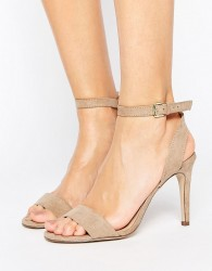 New Look Suedette Barely There Heeled Sandal - Beige