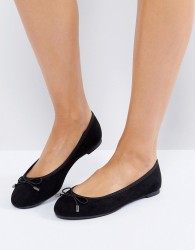 New Look Suedette Bow Ballet Pump - Black