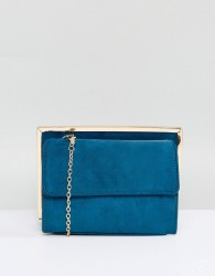 New Look Suedette Chain Shoulder Bag - Green