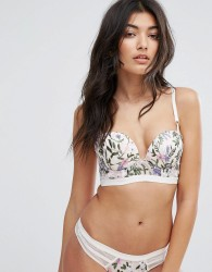 New Look Summer Embroidered Longline Bra - Multi